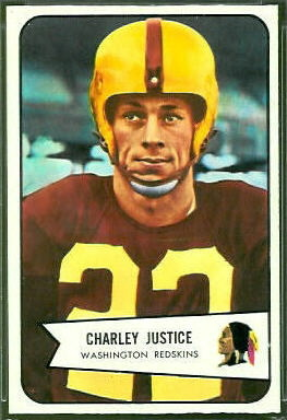 Charlie Justice 1954 Bowman football card
