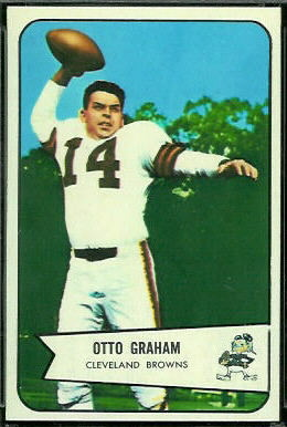 Otto Graham 1954 Bowman football card