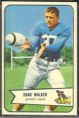 Doak Walker 1954 Bowman football card