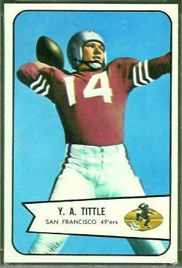 Y.A. Tittle 1954 Bowman football card