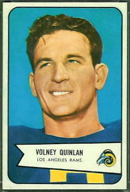 Volney Quinlan 1954 Bowman football card