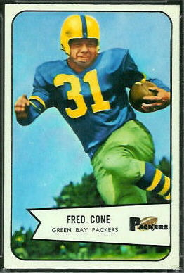 Fred Cone 1954 Bowman football card