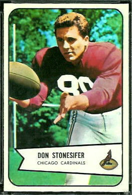 Don Stonesifer 1954 Bowman football card