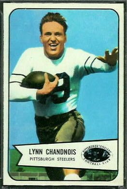 Lynn Chandnois 1954 Bowman football card