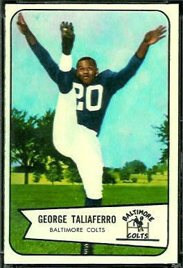 George Taliaferro 1954 Bowman football card