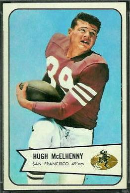 Hugh McElhenny 1954 Bowman football card