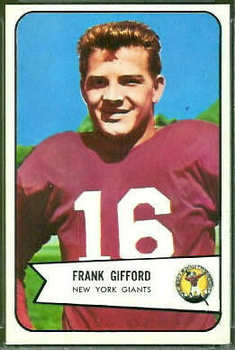 Frank Gifford 1954 Bowman football card