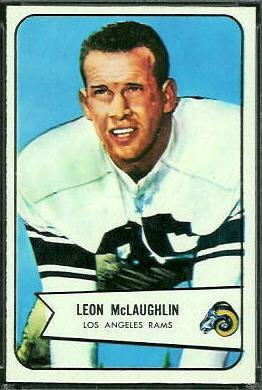 Leon McLaughlin 1954 Bowman football card