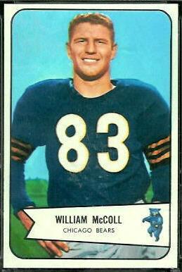 Bill McColl 1954 Bowman football card