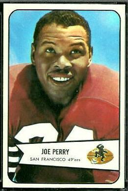 Joe Perry 1954 Bowman football card