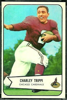 Charley Trippi 1954 Bowman football card