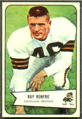 Ray Renfro 1954 Bowman football card