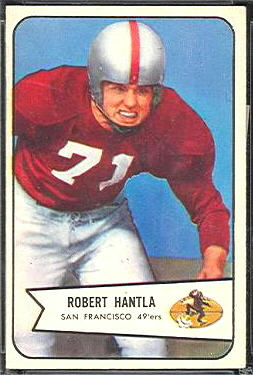 Bob Hantla 1954 Bowman football card