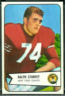 Ralph Starkey 1954 Bowman football card
