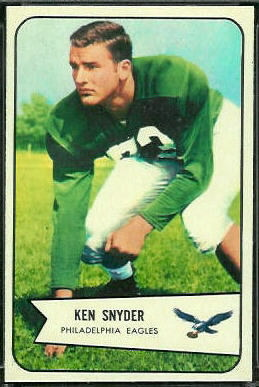 Ken Snyder 1954 Bowman football card