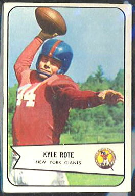 Kyle Rote 1954 Bowman football card