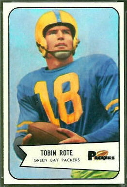 Tobin Rote 1954 Bowman football card