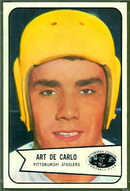 Art DeCarlo 1954 Bowman football card