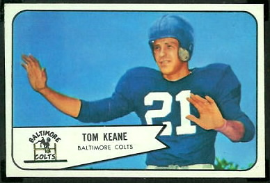 Tom Keane 1954 Bowman football card