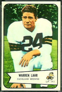 Warren Lahr 1954 Bowman football card