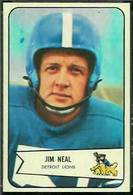 Jim Neal 1954 Bowman football card