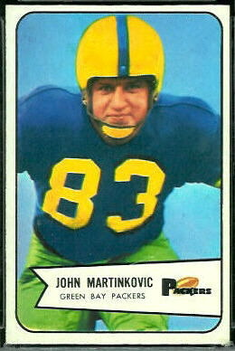 John Martinkovic 1954 Bowman football card