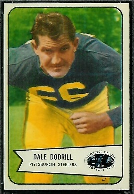 Dale Dodrill 1954 Bowman football card