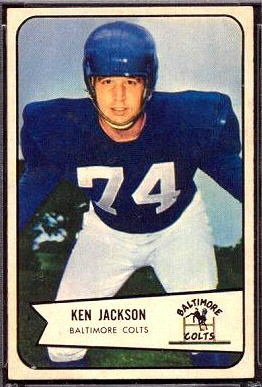 Ken Jackson 1954 Bowman football card