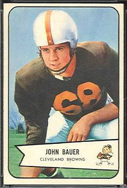 John Bauer 1954 Bowman football card