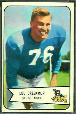 Lou Creekmur 1954 Bowman football card