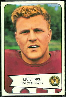 Eddie Price 1954 Bowman football card