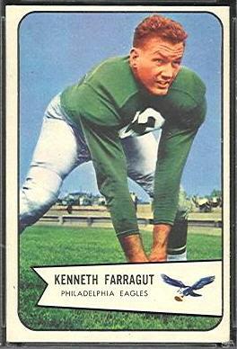 Ken Farragut 1954 Bowman football card
