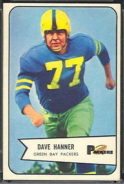 Dave Hanner 1954 Bowman football card