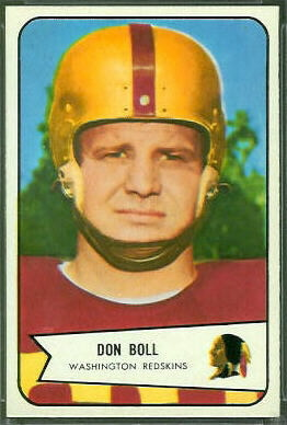 Don Boll 1954 Bowman football card