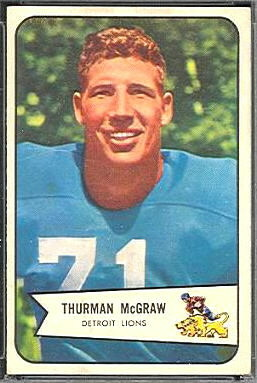 Thurman McGraw 1954 Bowman football card