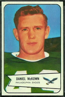 Dan McKown 1954 Bowman football card