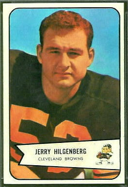 Jerry Hilgenberg 1954 Bowman football card