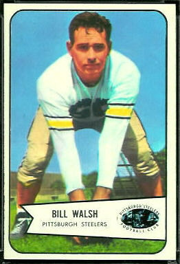 Bill Walsh 1954 Bowman football card