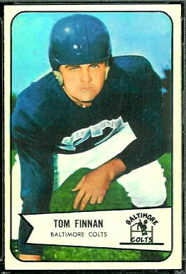 Tom Finnin 1954 Bowman football card