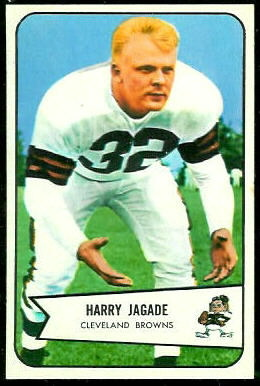 Harry Jagade 1954 Bowman football card