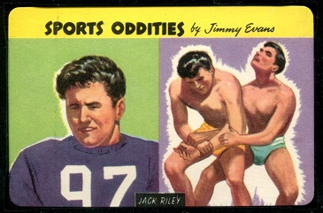 Jack Riley 1954 Quaker Sports Oddities rookie football card