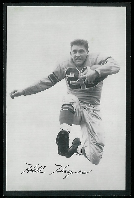 Hall Haynes 1954 Rams Team Issue football card