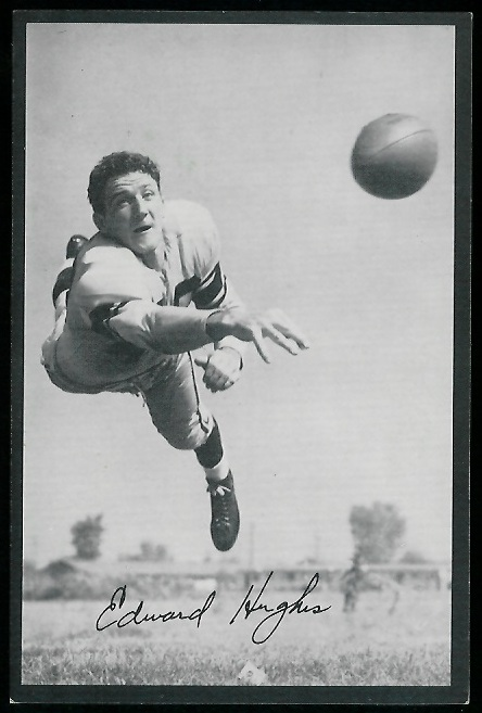 Ed Hughes 1954 Rams Team Issue football card