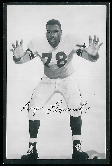 Gene Lipscomb 1954 Rams Team Issue football card