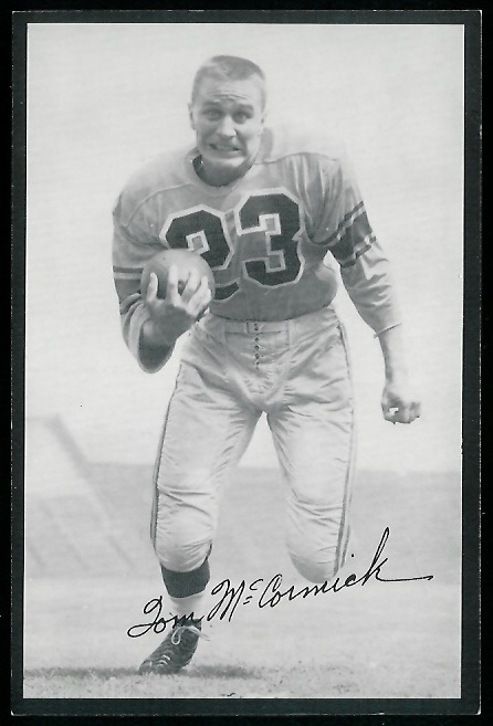 Tom McCormick 1954 Rams Team Issue football card