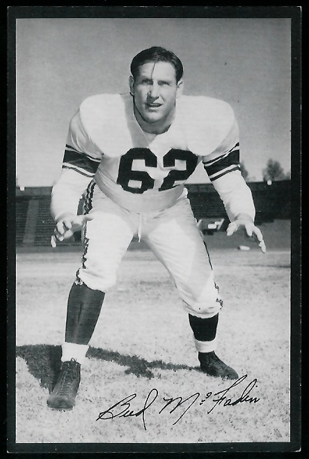 Bud McFadin 1954 Rams Team Issue football card