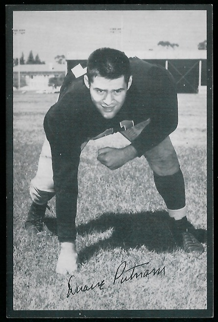 Duane Putnam 1954 Rams Team Issue football card
