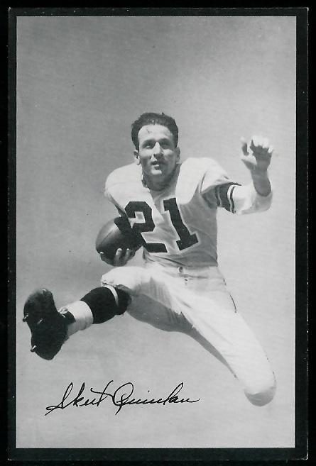 Volney Quinlan 1954 Rams Team Issue football card