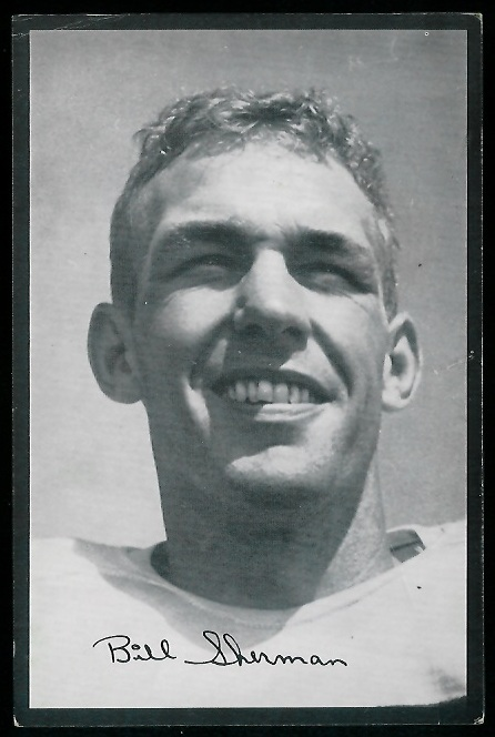 Will Sherman 1954 Rams Team Issue football card
