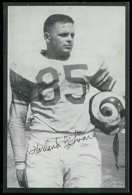 Harland Svare 1954 Rams Team Issue football card